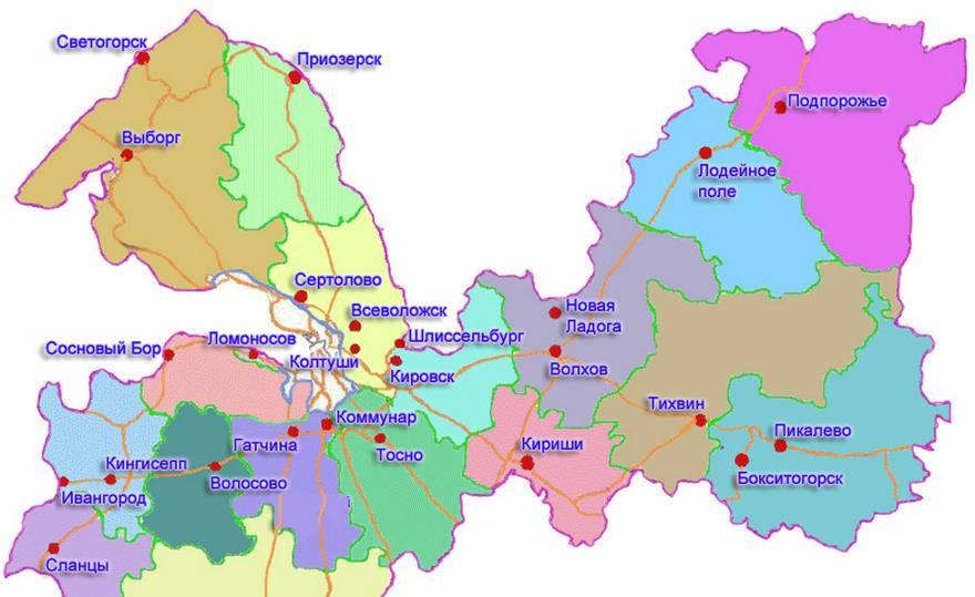 Рейтинг локаций Ленобласти
