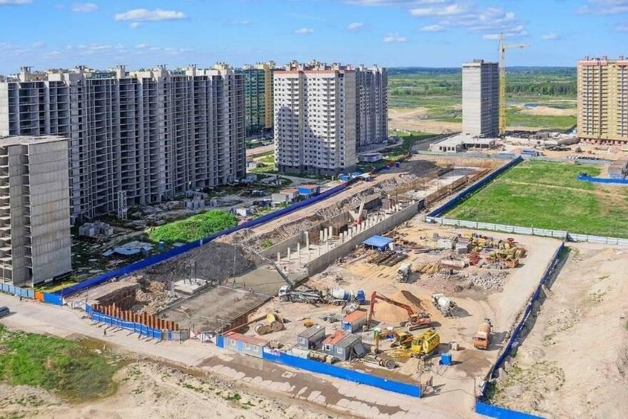 Строительная площадка в Санкт-Петербурге