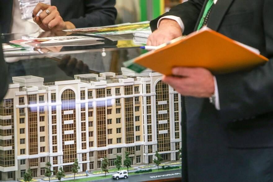 Макет жилого комплекса на выставке недвижимости