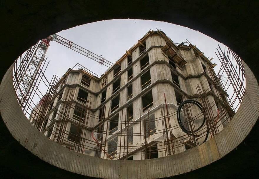 Строительство жилого комплекса в Санкт-Петербурге