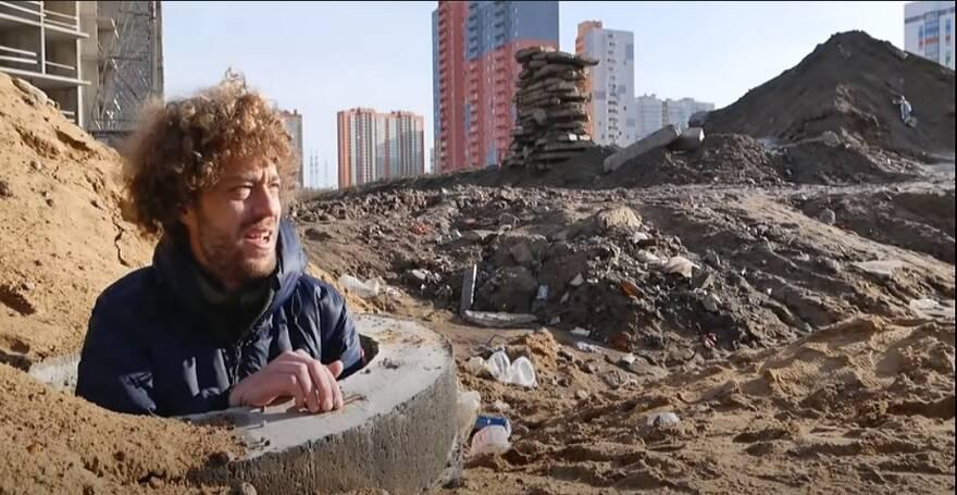 Илья Варламов в Мурино (из официального канала Ильи Варламова на YouTube)