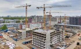Ведутся работы по устройству временных дорог строительной площадки, выполнено 80%.