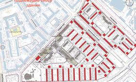 Подлежащие сносу здания в квартале