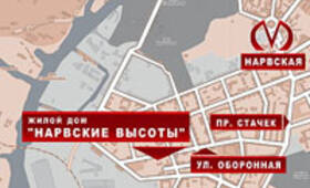 ЖК «Нарвские высоты»: карта