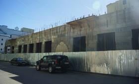 ЖК «Торкельская ратуша»: фасад по Рыбному переулку (17.06.15)