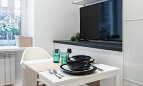 МФК «Турист»: пример отделки и меблировки апартаментов