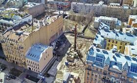 Клубный дом Monodom Line: ход строительства (апрель 2021)