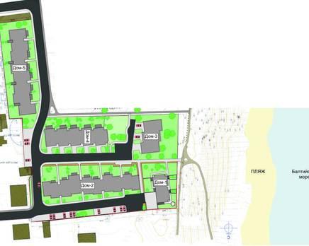 Схема расположения домов в жилом комплексе «Амбер Хаус», Октябрь 2013