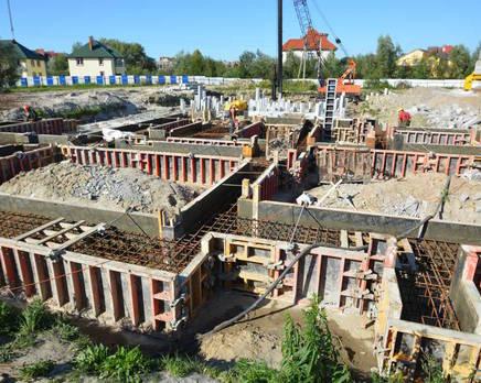 Строительство дома №1. Сентябрь 2014 г., Сентябрь 2014