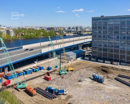 ЖК «Эмеральд на Малой Неве»: ход строительства корпуса №1, Июнь 2019
