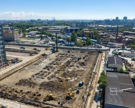 ЖК «Эмеральд на Малой Неве»: ход строительства корпуса №1, Июль 2019