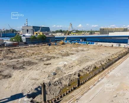 ЖК «Эмеральд на Малой Неве»: ход строительства корпуса №2, Июль 2019