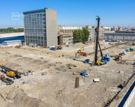 ЖК «Эмеральд на Малой Неве»: ход строительства корпуса №3, Июль 2019