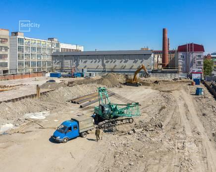 ЖК «Эмеральд на Малой Неве»: ход строительства корпуса №4, Июль 2019
