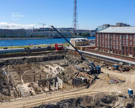 ЖК «Притяжение»: ход строительства корпуса №1, Июль 2019