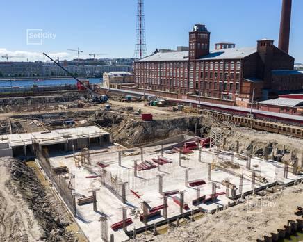ЖК «Притяжение»: ход строительства корпуса №2, Июль 2019