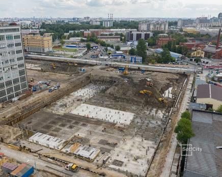 ЖК «Эмеральд на Малой Неве»: ход строительства корпуса №1, Август 2019