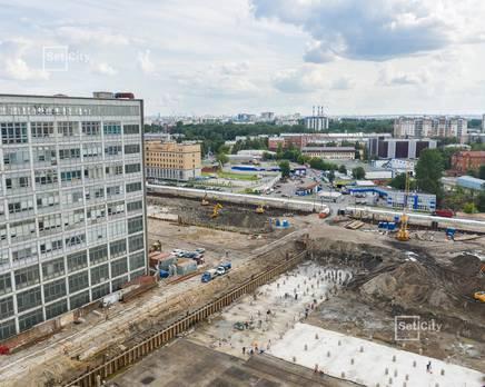 ЖК «Эмеральд на Малой Неве»: ход строительства корпуса №2, Август 2019