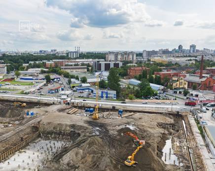 ЖК «Эмеральд на Малой Неве»: ход строительства корпуса №3, Август 2019