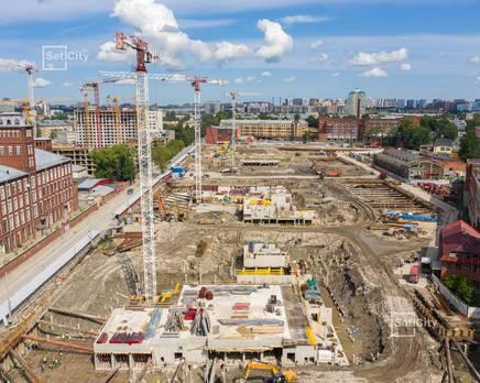 ЖК «Притяжение»: ход строительства корпуса №1, Август 2019