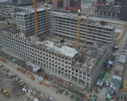 ЖК «ЗИЛАРТ»: ход строительства дома №17, Сентябрь 2019