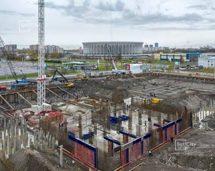 ЖК «Статус у парка Победы»: ход строительства дома №1, Ноябрь 2019