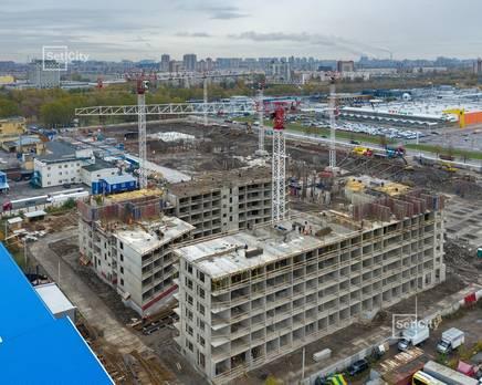 ЖК «Статус у парка Победы»: ход строительства дома №2, Ноябрь 2019