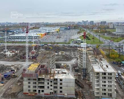 ЖК «Статус у парка Победы»: ход строительства дома №3, Ноябрь 2019