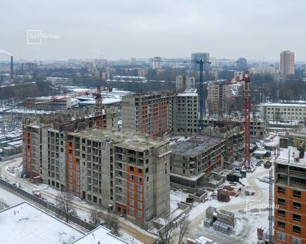 ЖК «Панорама парк Сосновка»:  ход строительства корп. 1, Январь 2021
