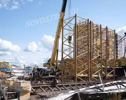 ЖК «Аннинский парк»: ход строительства корпуса №5, Сентябрь 2018