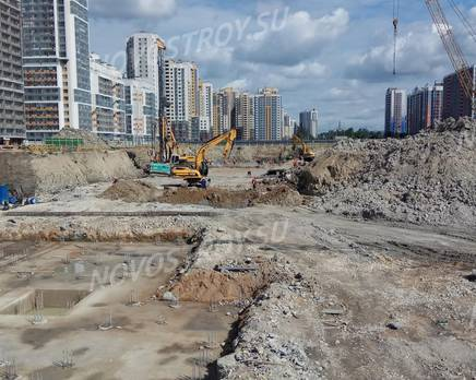ЖК «Триумф Парк»: ход строительства 6 очереди, Август 2019