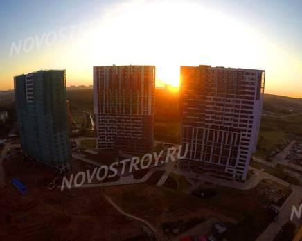 ЖК «Новая Звезда» (Газопровод): ход строительства корпуса №5,6,7,8, Сентябрь 2019