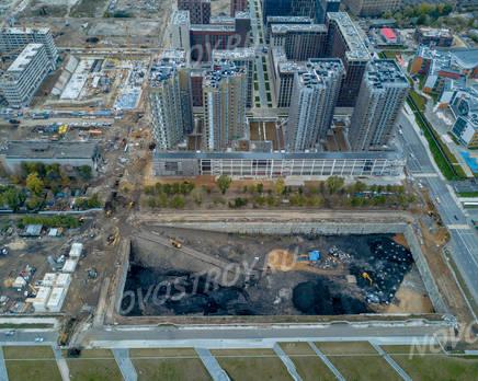 ЖК «ЗИЛАРТ»: ход строительства дома №9, Октябрь 2019