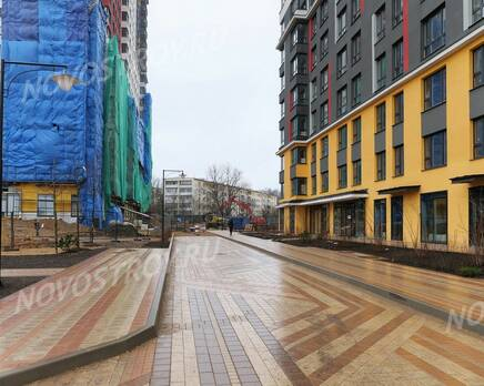 ЖК «Новая Звезда» (Газопровод): ход строительства корпуса №7,8, Февраль 2020