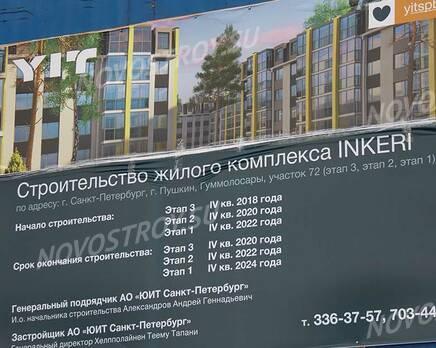 МЖК «Inkeri»: ход строительства, Март 2020