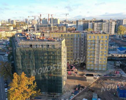 ЖК «Riviere Noire»: ход строительства дома №1, Ноябрь 2020