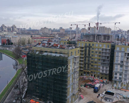 ЖК «Riviere Noire»: ход строительства дома №1, Декабрь 2020
