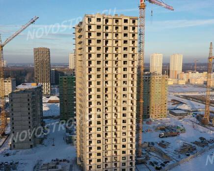 ЖК «Заповедный парк»: ход строительства дома №1, Январь 2021