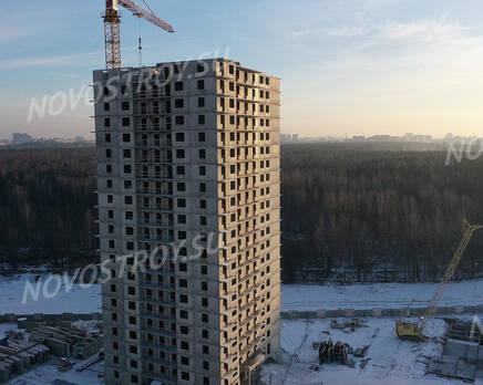 ЖК «Заповедный парк»: ход строительства дома №2, Январь 2021