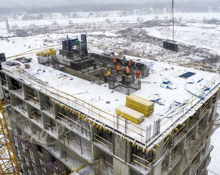 ЖК «Holland park»: ход строительства корпуса №10, Январь 2021