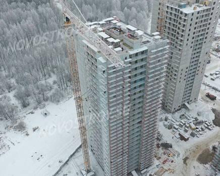 ЖК «Заповедный парк»: ход строительства дома №1, Февраль 2021