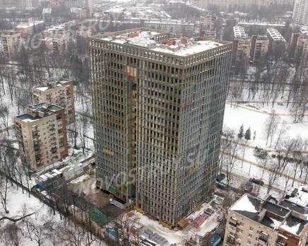 ЖК «Институтский, 16»: ход строительства, Февраль 2021