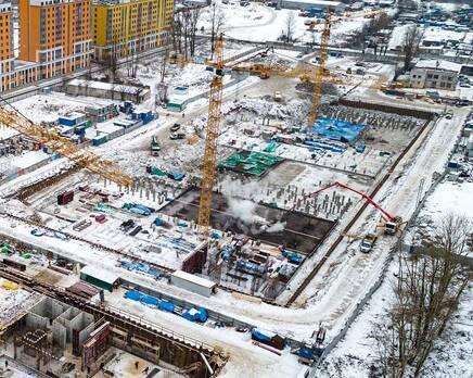 ЖК «Квартал Галактика»: ход строительства, Февраль 2021