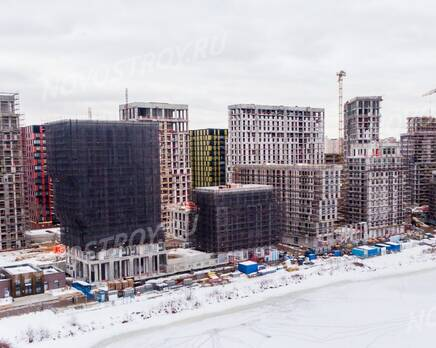 ЖК «Now. Квартал на набережной»: ход строительства, Февраль 2021