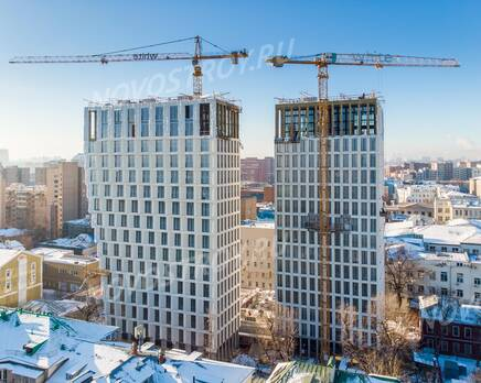 ЖК «White Khamovniki»: ход строительства, Февраль 2021