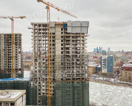 ЖК «RiverSky»: ход строительства корпуса №1, Апрель 2021