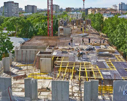 МФК «Residence Hall Шаболовский»: ход строительства, Июнь 2021