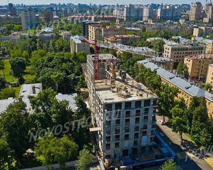 МФК «Residence Hall Шаболовский»: ход строительства, Июль 2021