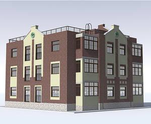 Малоэтажные дома в коттеджном поселке «Остров Эрин»: визуализация