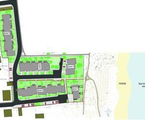 Схема расположения домов в жилом комплексе «Амбер Хаус»